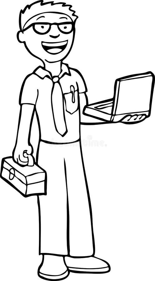 черная белизна техника компьютера иллюстрация штока
