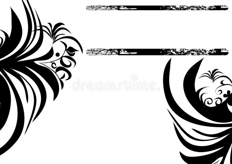 черная белизна украшения иллюстрация вектора