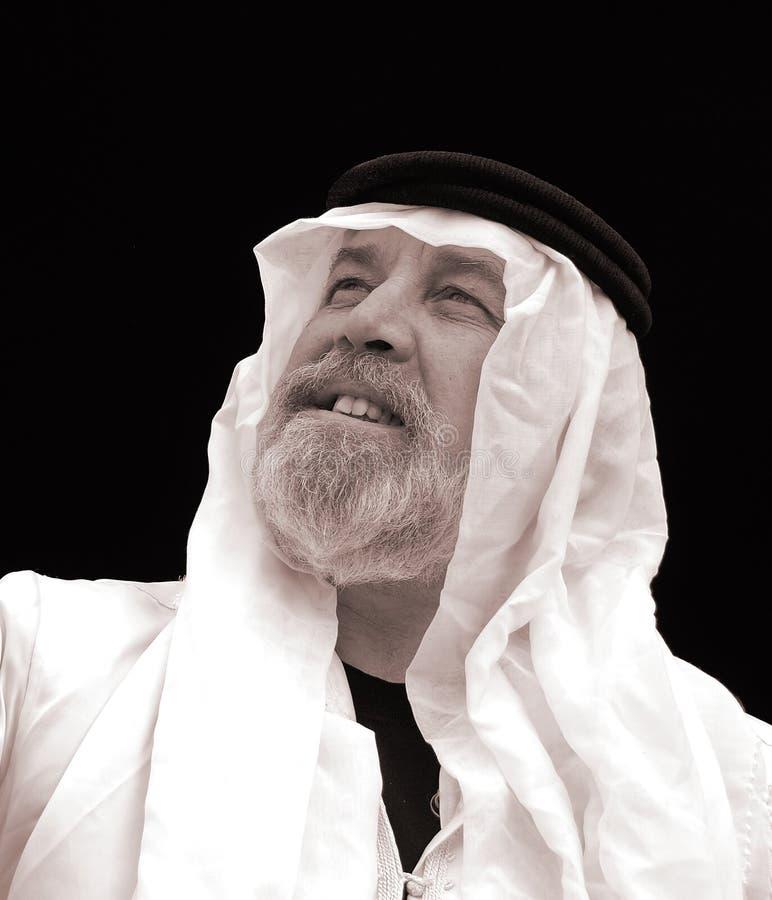 черная белизна шейха портрета стоковое изображение rf