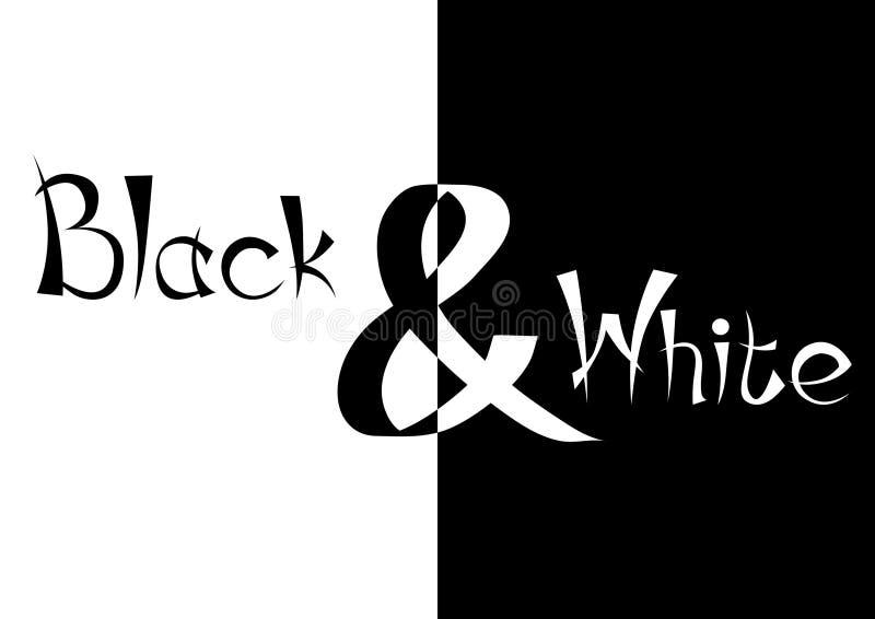 черная белизна иллюстрация вектора
