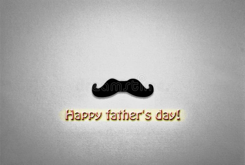 черная белизна noir, концепция дня ` s отца minimalism усик, желтая предпосылка, символ праздника карточка 2007 приветствуя счаст стоковая фотография