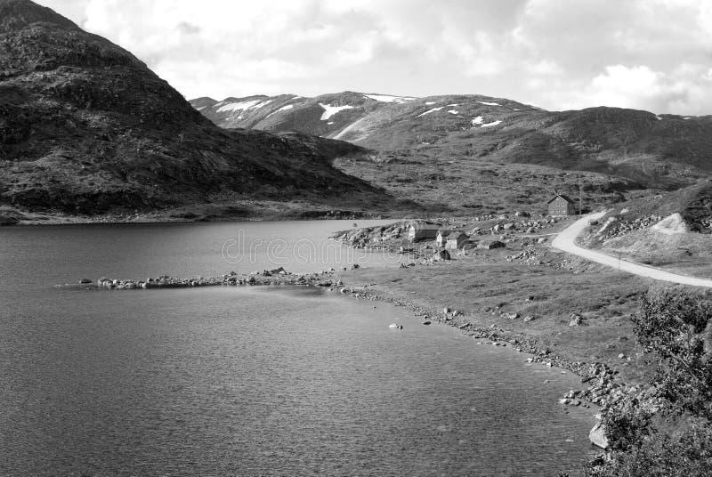 черная белизна vikafjell изображения Норвегии стоковая фотография rf