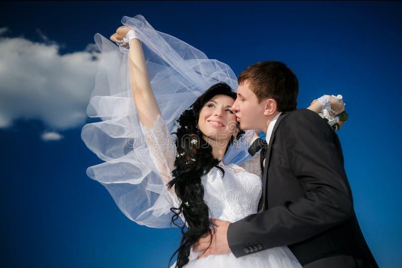 черная белизна сбора винограда типа парка groom невесты стоковая фотография rf