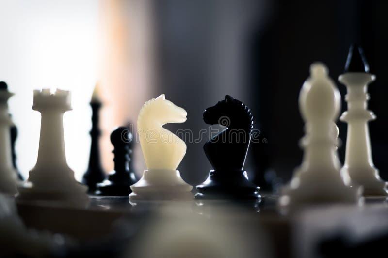 черная белизна chessboard шахмат стоковые изображения rf