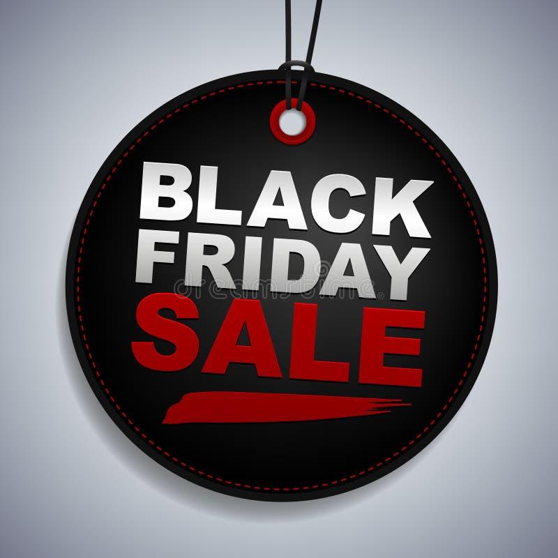 Черная бирка продажи пятницы бесплатная иллюстрация