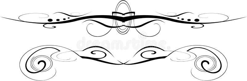 черная богато украшенный белизна вектора иллюстрация вектора