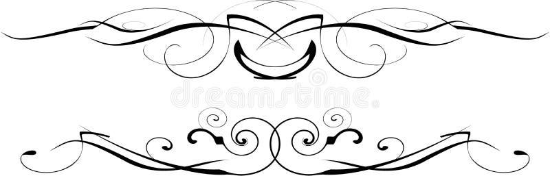 черная богато украшенный белизна вектора иллюстрация штока