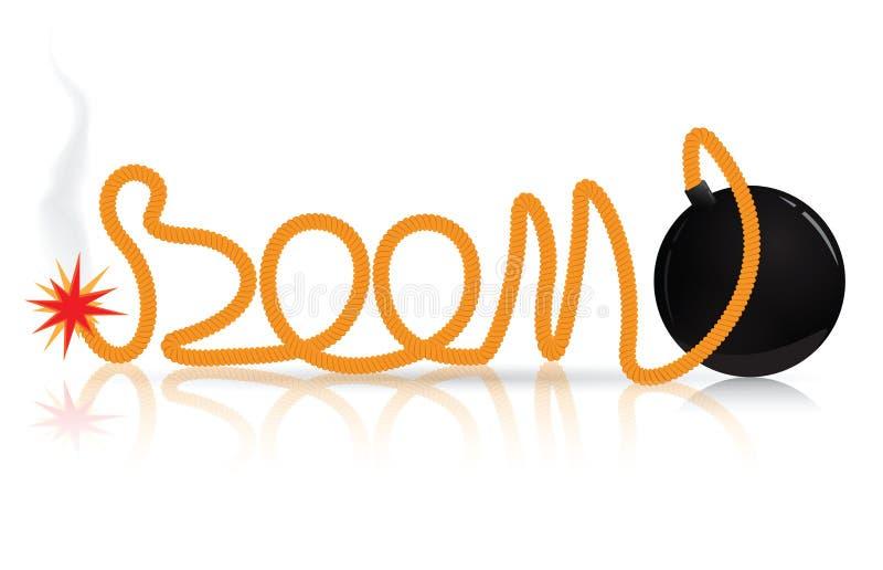 Черная бомба иллюстрация штока