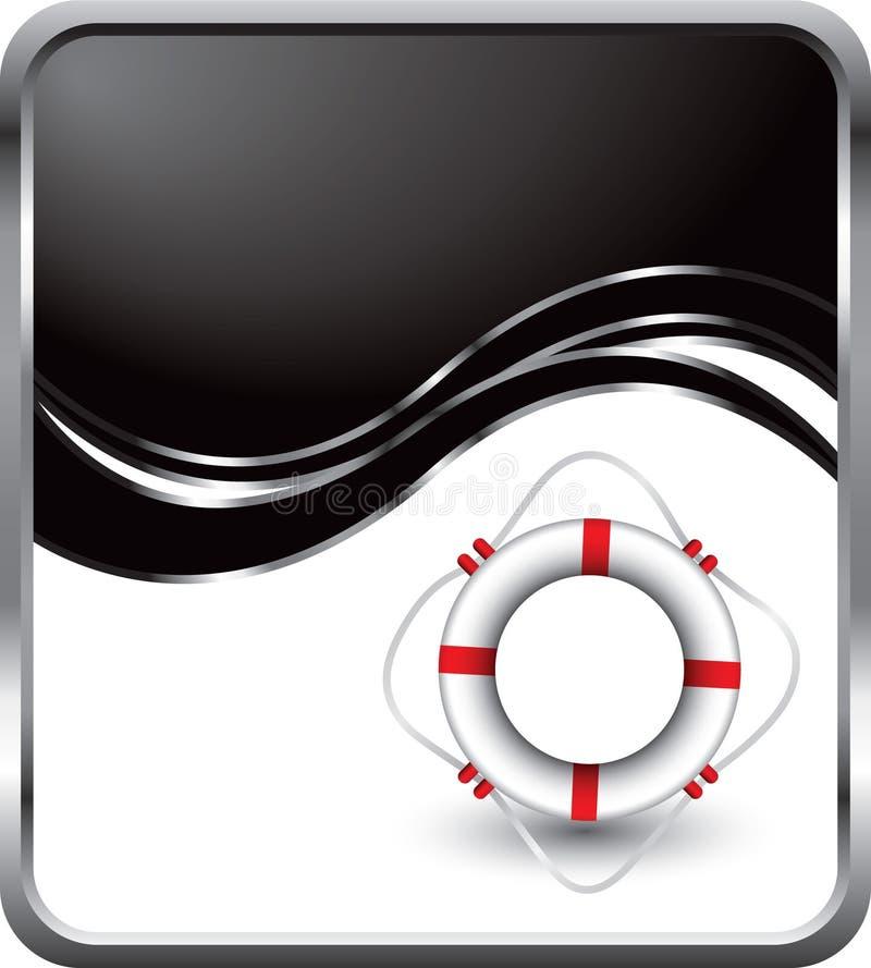 черная волна кольца жизни бесплатная иллюстрация