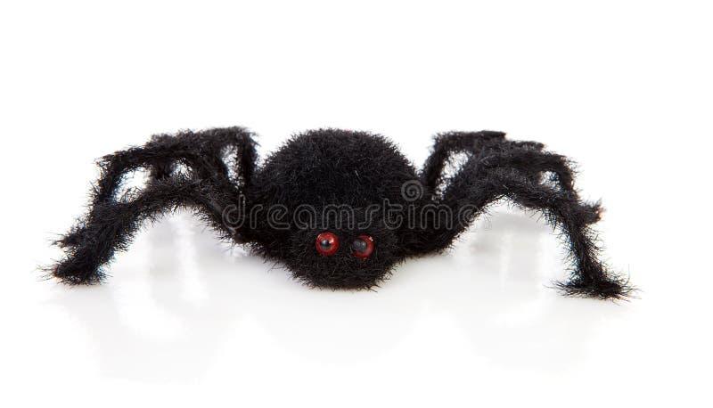 черная волосатая страшная игрушка спайдера стоковые изображения rf