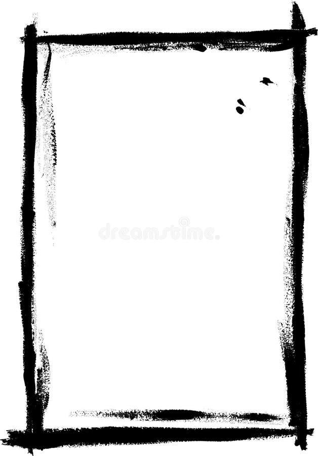 черная вполне покрашенная граница бесплатная иллюстрация