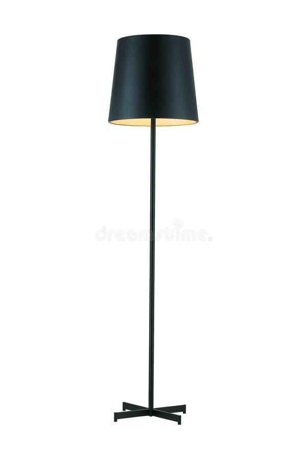 Черная высокорослая лампа пола стоковое фото rf