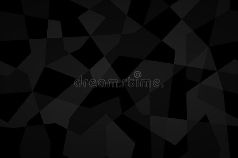 Черная геометрическая предпосылка с картиной треугольника Текстура к бесплатная иллюстрация
