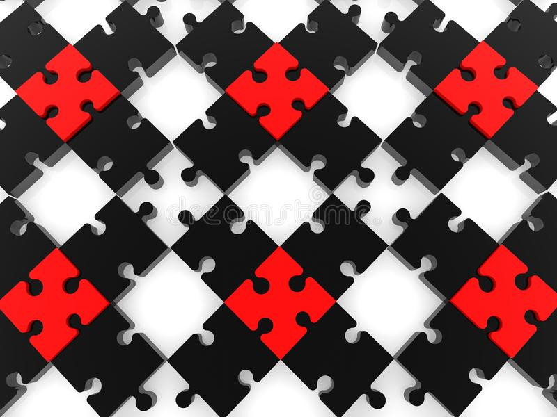 Черная головоломка с пустыми космосами бесплатная иллюстрация