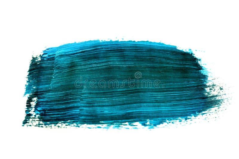 Черная голубая картина brushstroke акварели изолированная на белой предпосылке бесплатная иллюстрация
