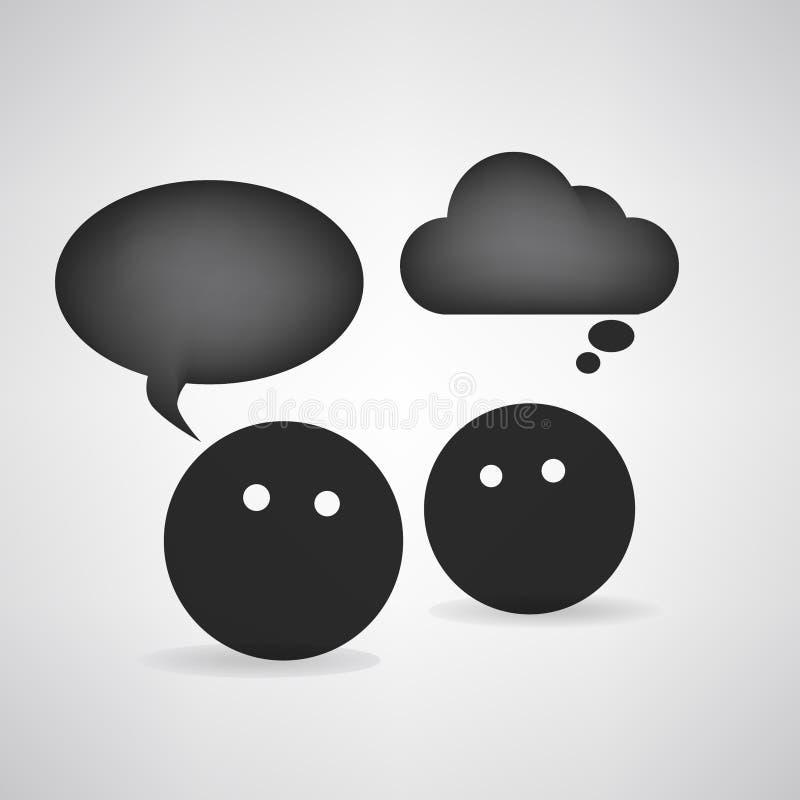 Черная головная круглая беседа иллюстрация штока