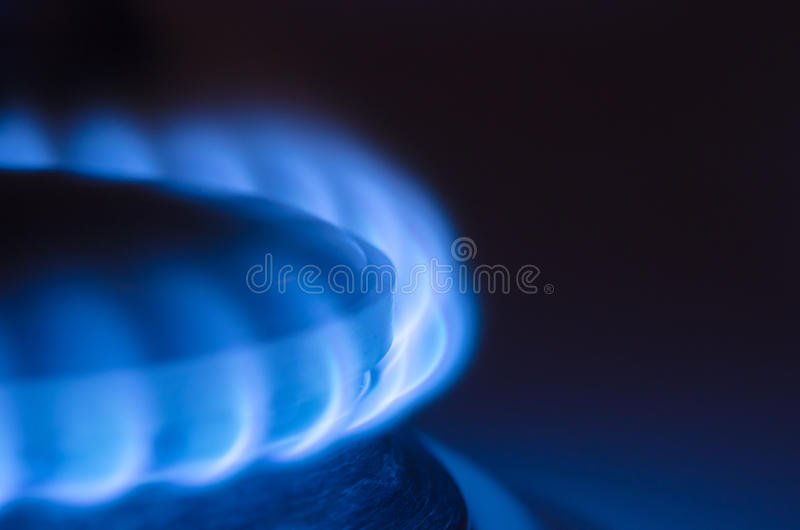черная голубая труба газа топлива естественная стоковое изображение