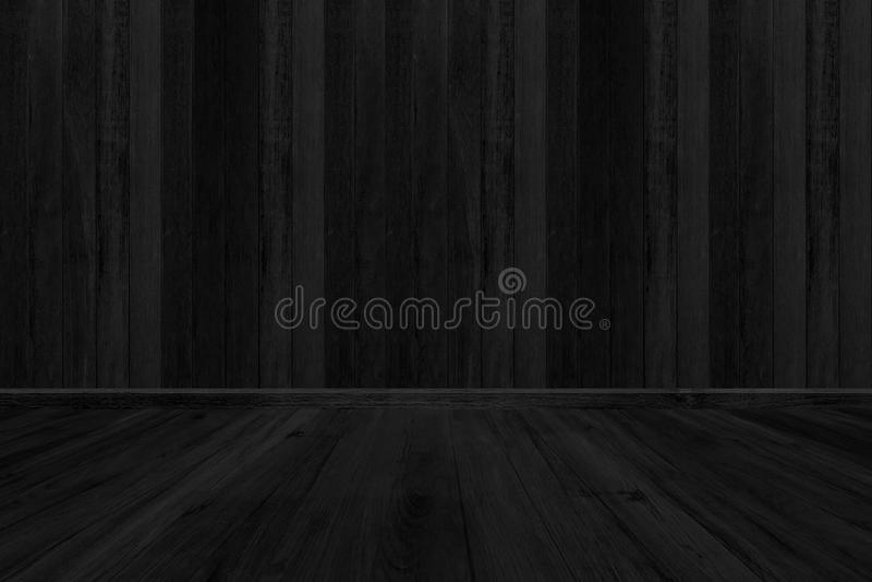 Черная деревянная предпосылка текстуры, пробел пола комнаты для дизайна стоковые фото