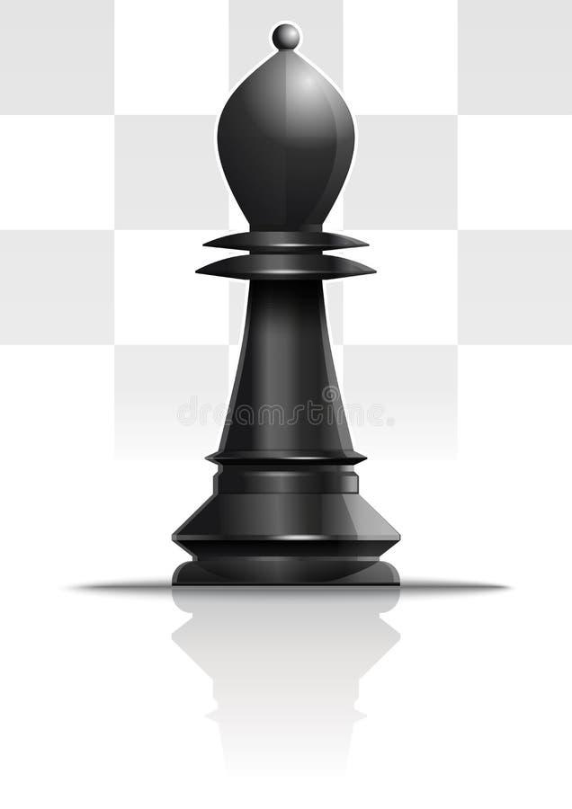 Черная диаграмма офицер шахмат r бесплатная иллюстрация