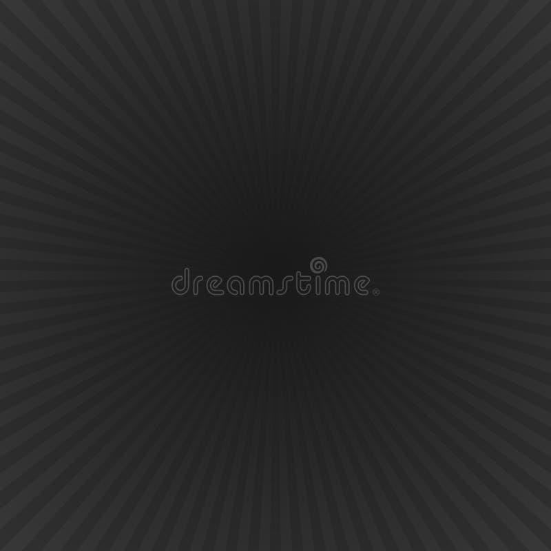 Черная динамическая звезда градиента разрывала предпосылку - векторную графику с радиальными лучами иллюстрация штока