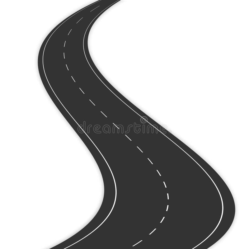Черная дорога иллюстрация вектора