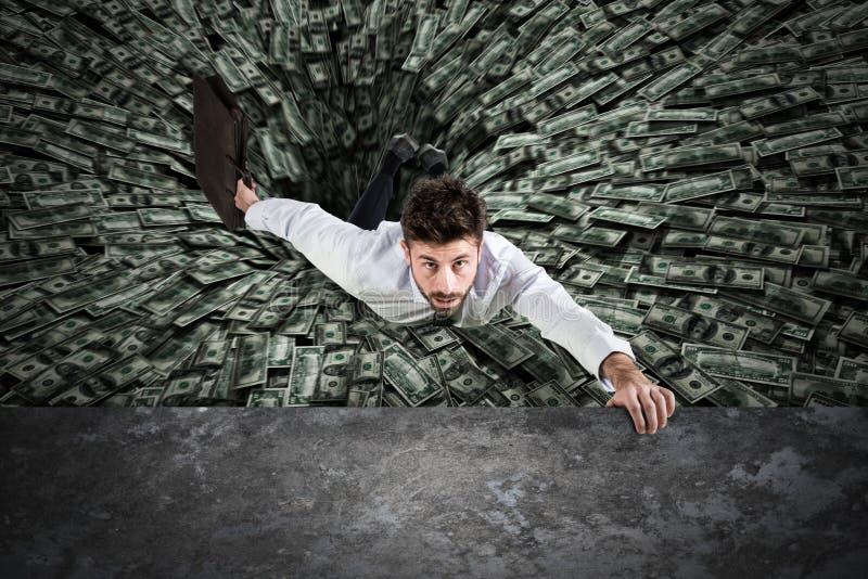 Черная дыра денег стоковая фотография rf