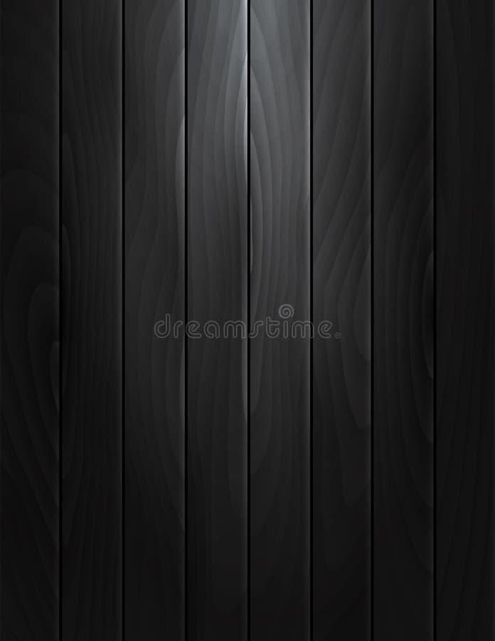 Черная деревянная текстура иллюстрация штока
