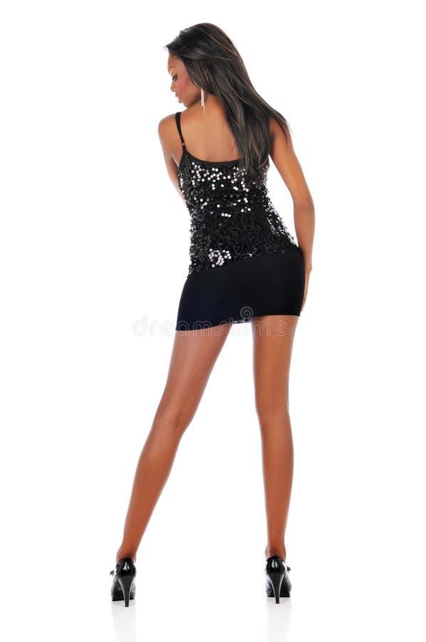 черная женщина способа стоковая фотография rf