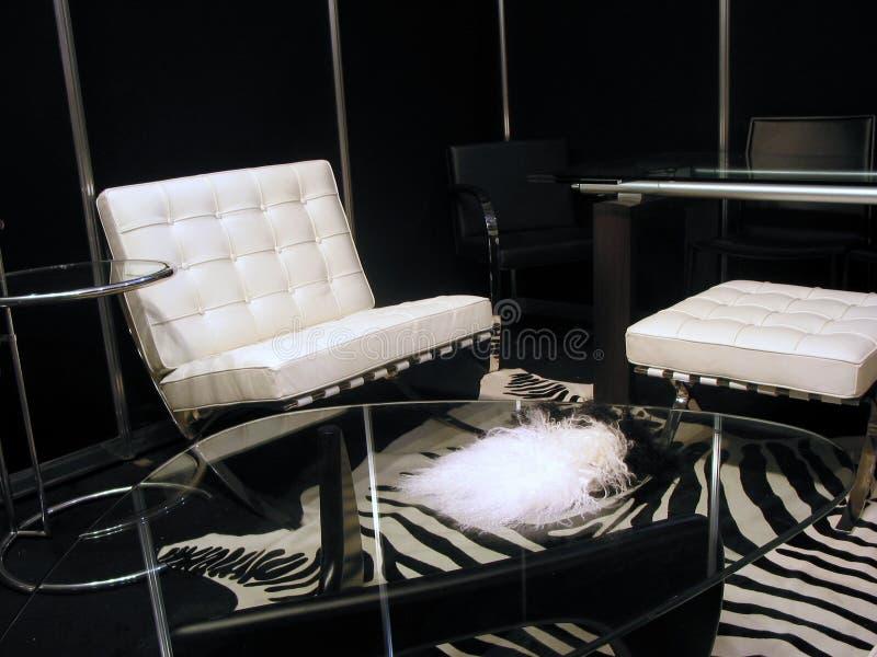черная живущая белизна комнаты стоковая фотография