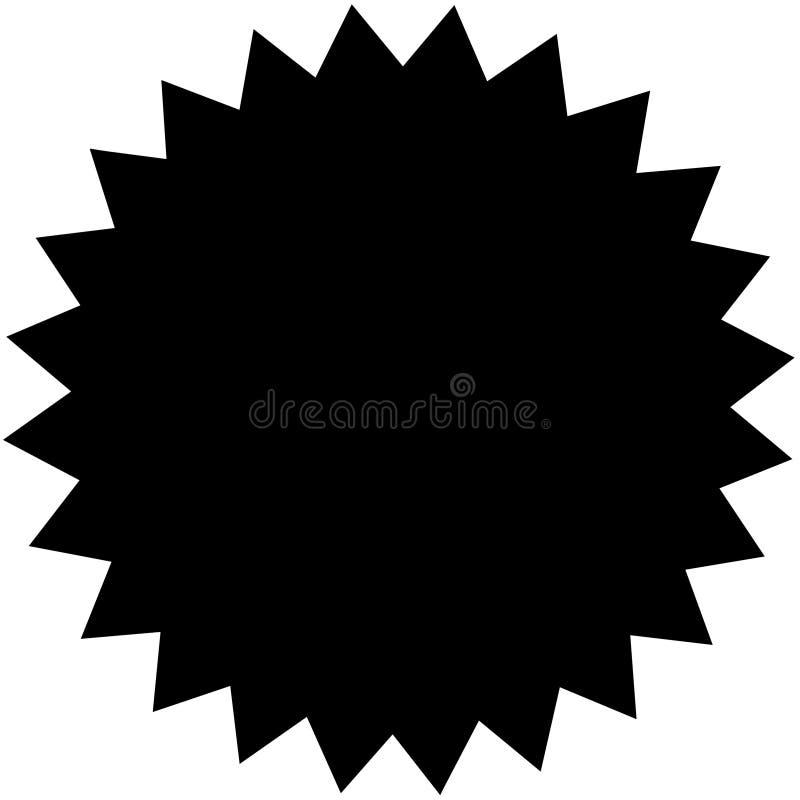 черная заплата иллюстрация вектора