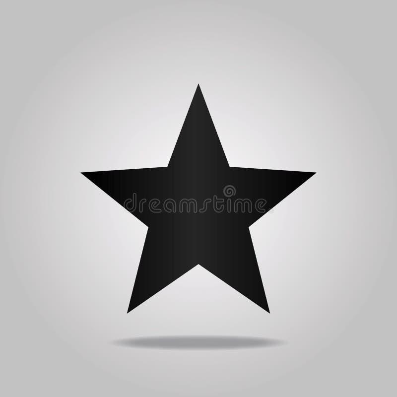Черная звезда изолированная на белой предпосылке бесплатная иллюстрация
