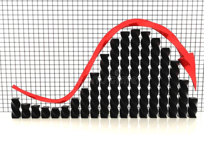 Черная диаграмма с красным arrow№2 бесплатная иллюстрация