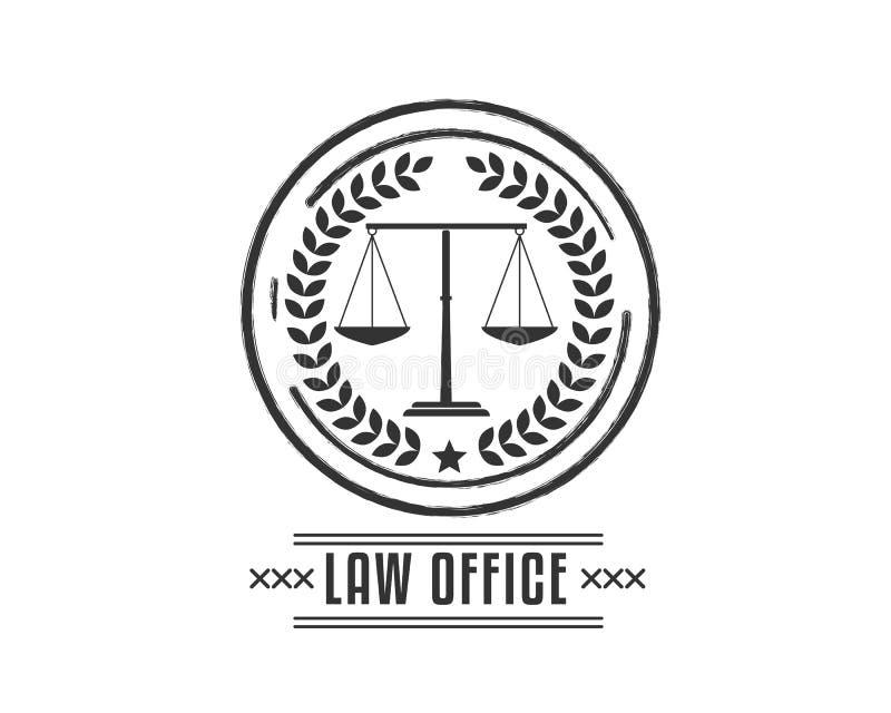Черная иллюстрация значка юридического офиса винтажная иллюстрация вектора