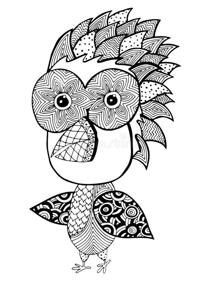 птица для взрослого или книжка раскраски и страниц ребенка