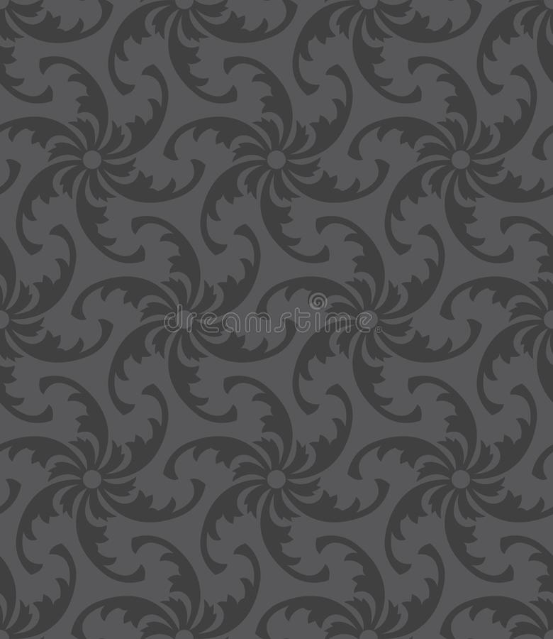Черная и серая безшовная картина стоковые изображения
