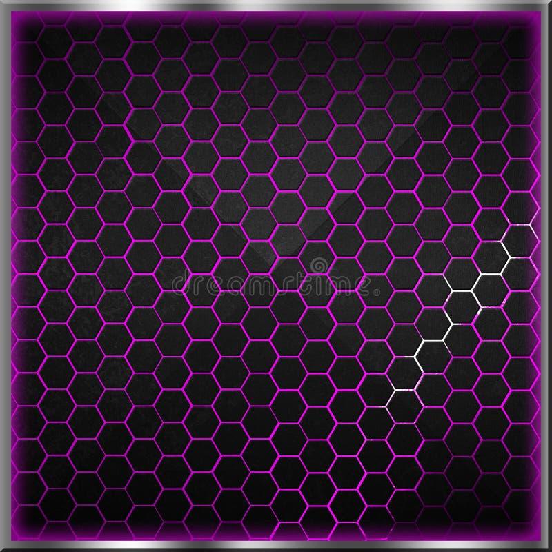 Черная и серая предпосылка шестиугольника с реальной текстурой бесплатная иллюстрация