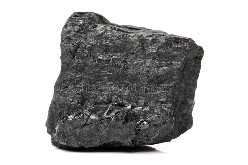 Черная и сияющая часть угля стоковые изображения rf