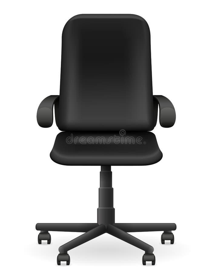 Черная иллюстрация вектора мебели кресла офиса иллюстрация вектора