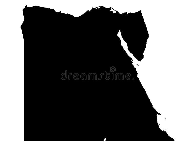Черная карта Hong Египта иллюстрация штока