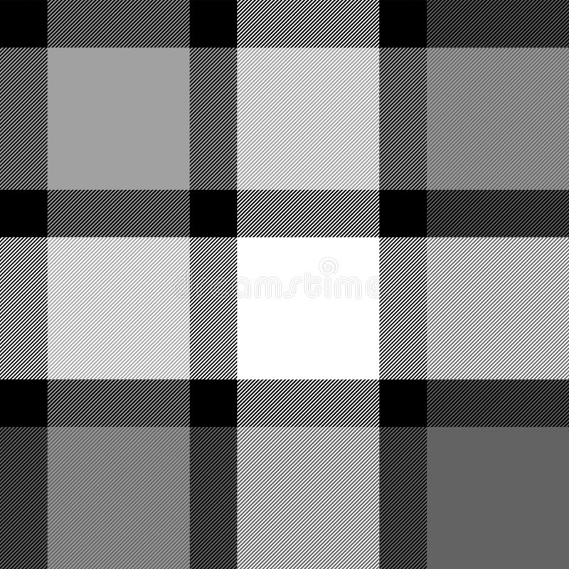 Черная картина белой и серой ткани тартана традиционной безшовная, вектор бесплатная иллюстрация