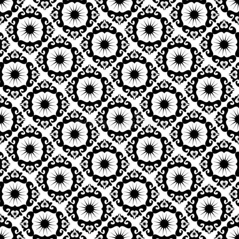 черная картина орнамента безшовная иллюстрация вектора