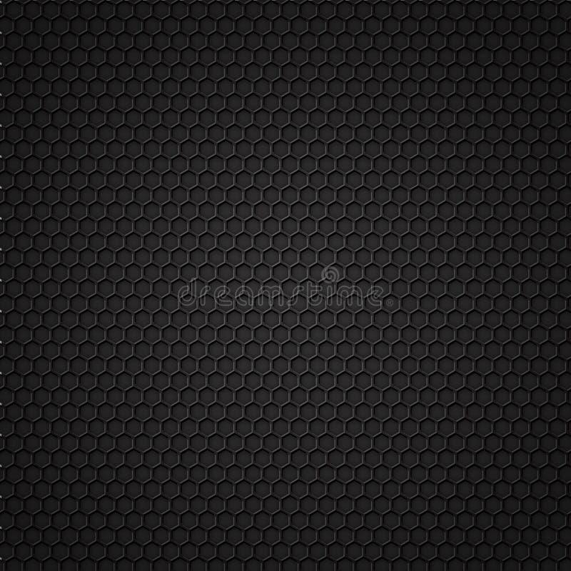 черная картина углерода безшовная иллюстрация вектора