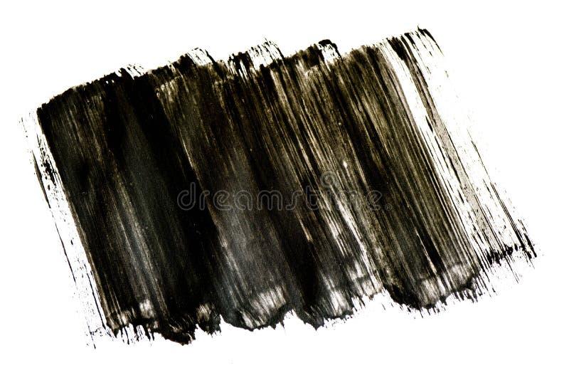 Черная картина brushstroke акварели изолированная на белой предпосылке бесплатная иллюстрация