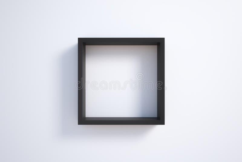 Черная картинная рамка на белой стене бесплатная иллюстрация