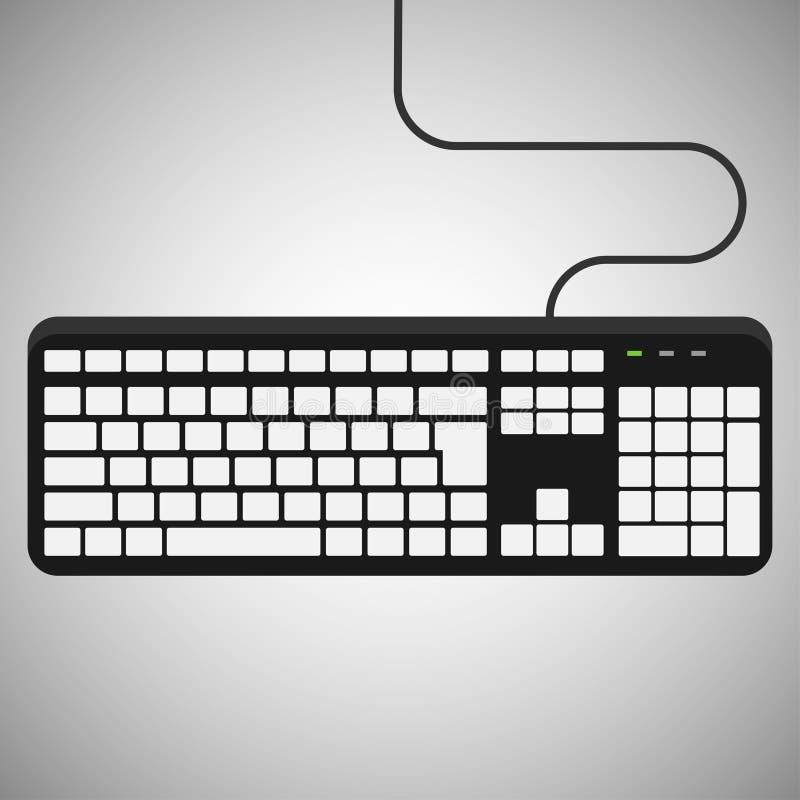 черная клавиатура с белыми кнопками иллюстрация вектора