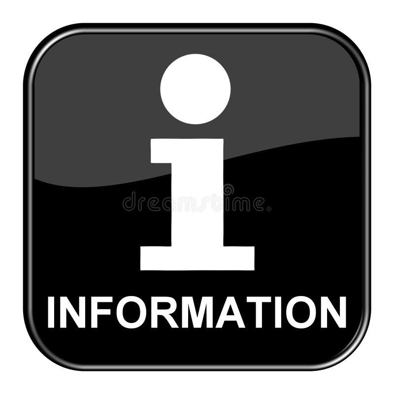 Черная кнопка: Информация иллюстрация штока