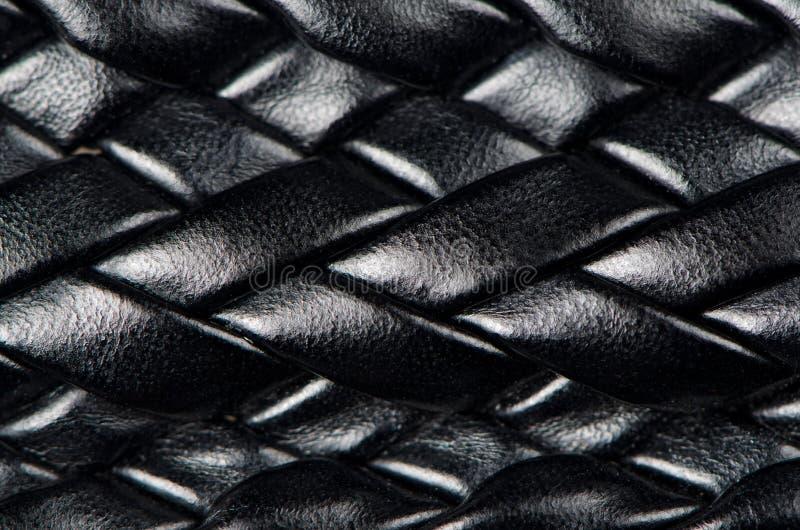 черная кожаная сплетенная картина стоковые изображения rf