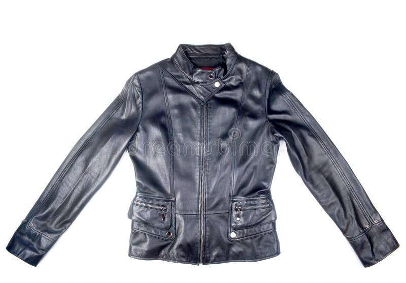 черная кожа куртки стоковая фотография rf