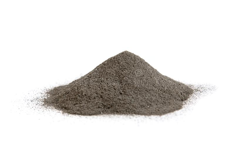 Черная косметическая глина изолированная на белой предпосылке Skincare стоковые фото