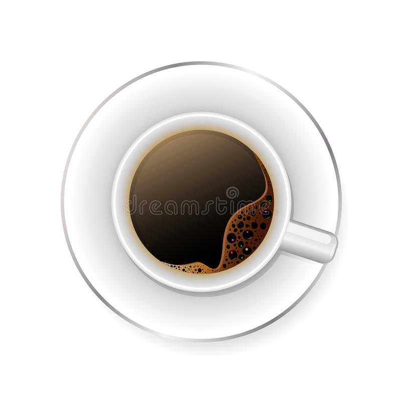черная кофейная чашка Реалистический вектор бесплатная иллюстрация